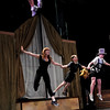 "Ellen Kaye, left, John Hanson, and Joe Connors, rehearse a flying scene during a rehearsal for Peter Pan at the Boulder Dinner Theatre on May 6, 2010. For a video of the actors in flight and a photo gallery, visit  <a href=""http://www.dailycamera.com"">http://www.dailycamera.com</a><br /> Stephen Swofford / Daily Camera"