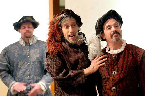 """Shakespeare Incorporated by the Coal Creek Community Theater of Louisville during rehearsal at the Louisville Center for the Arts on Wednesday evening February 10, 2010. FOR MORE PHOTOS GO TO  <a href=""""http://WWW.DAILYCAMERA.COM"""">http://WWW.DAILYCAMERA.COM</a><br /> Photo by Paul Aiken / The Camera / February 10, 2010"""