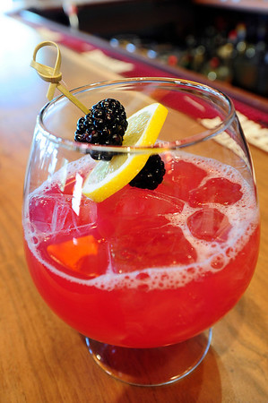 DRINKS<br /> A Sparkling Blackberry Sangria from Salt Bistro, which includes gin, triple sec, sparkling wine and blackberry simple syrup.<br /> Photo by Marty Caivano/May 9, 2011