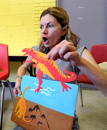 "French teacher, Veronique Carney, speaks French to her toddler students at the WOW Children's Museum in Lafayette.<br /> For more photos and a video of the language class, go to  <a href=""http://www.dailycamera.com"">http://www.dailycamera.com</a><br /> Cliff Grassmick / April 25, 2012"