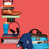"Brompton Classic; Amesbury; Double Zip Briefcase; 15""; 155-259-BRN; Stack"