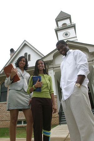 Ebony Magazine Editorial Shoot on the Tougaloo College campus