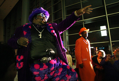Members of the ZAP Band open a show during the Tougaloo College Masquarade Ball 2006