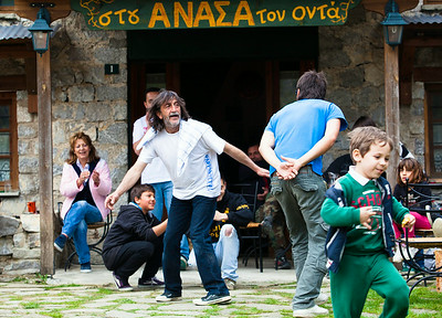 Anasa dancing with his Son/Pades/Greece
