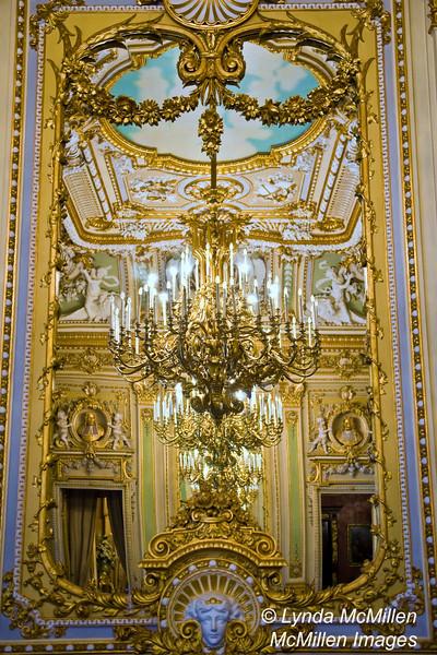 Cascading Chandelier. Palazzo Parisio, Naxxar, Malta.