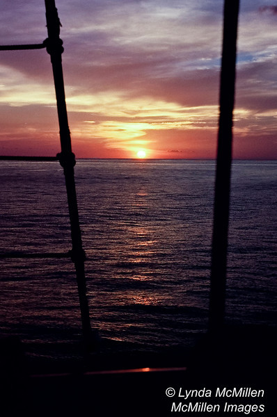 Barbados Sunset from The Royal Clipper.