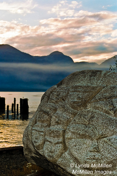 Carved Rock at sunset, Vancouver, Canada