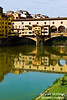 The Ponte Vecchio Bridge, built 1345, designed by Taddeo Gaddi, was the only bridge over the Arno River that was not destroyed in either World War.
