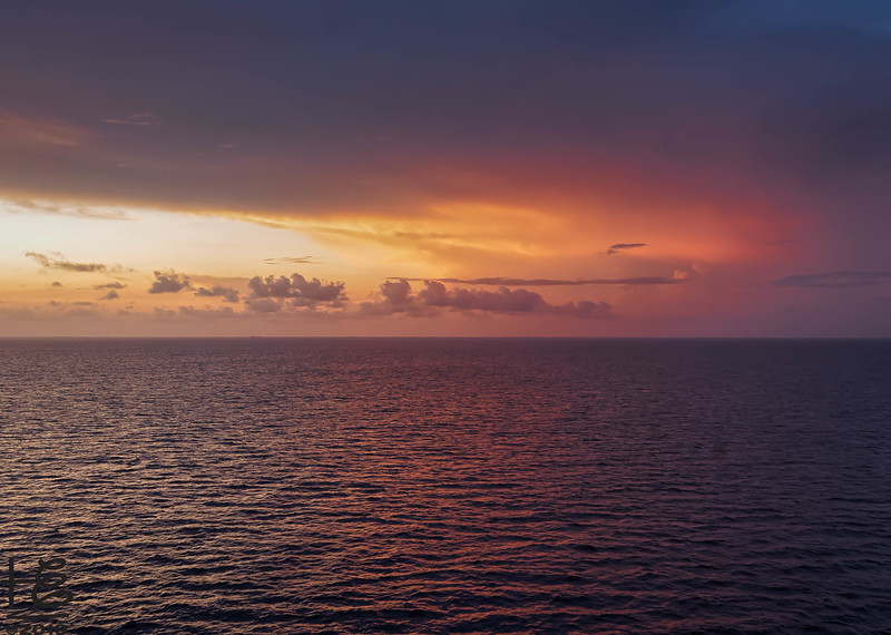 Sunset over the Caribbean