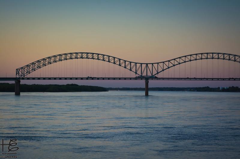 M Bridge at sunset