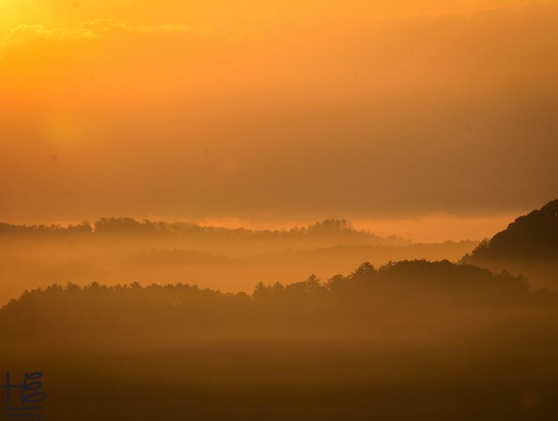Post-sunrise fog