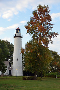 FALL COLOR AT THE POINT AUX BARQUE LIGHTHOUSE
