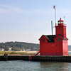 BIG RED LIGHTHOUSE IN HOLAND MICHIGAN
