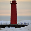 MUSKEGON LIGHTHOUSE AT SUNSET