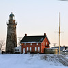 BACKSIDE OF THE FAIRPORT HARBOR LIGHTHOUSE AND MUSEUM
