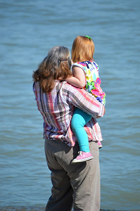 GRANDMA AND GRANDDAUGHTER AT MARBLEHEAD