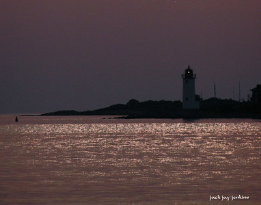 Pre-dawn hours - Annisquam lighthouse is quiet.