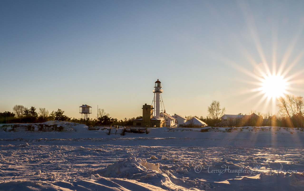 Winter Afternoon at Whitefish Point