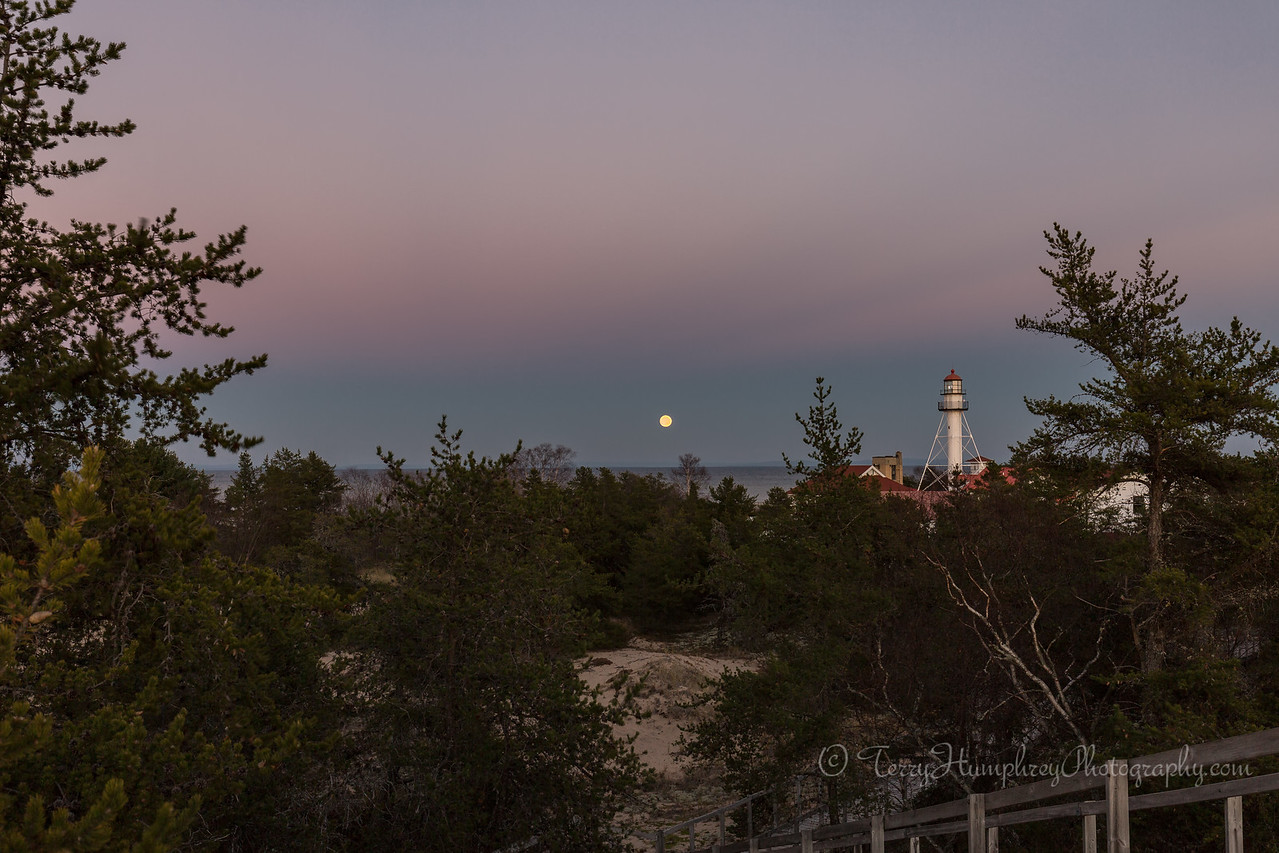 Moon Rising at Whitefish Point
