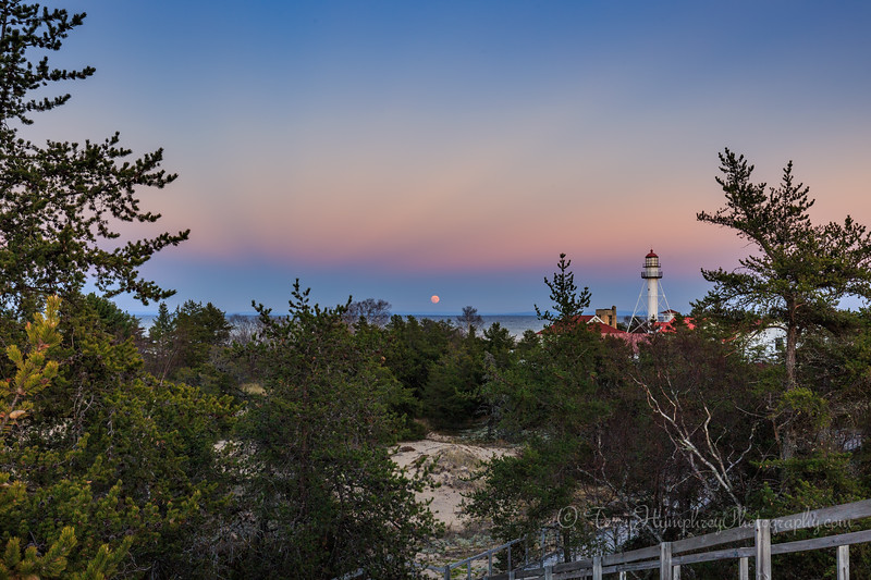 Moonrise at Whitefish Point