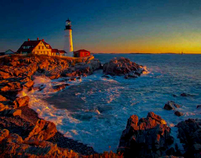 Portland Head Light,Maine sunrise #5