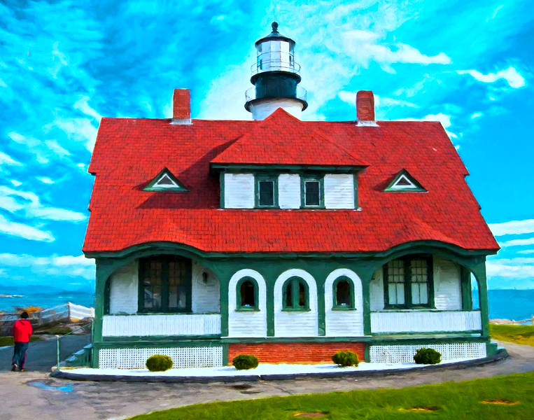 Portland Head Light,Maine keeper's house