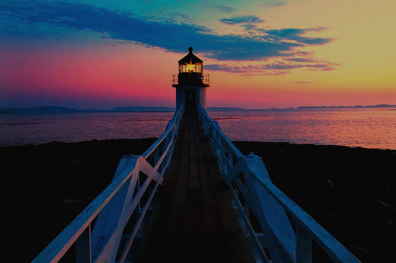 Marshall Point Light, Port Clyde,Maine sunset