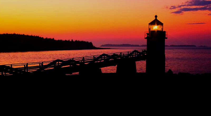Marshall Point Light, Port Clyde,Maine sunset #3