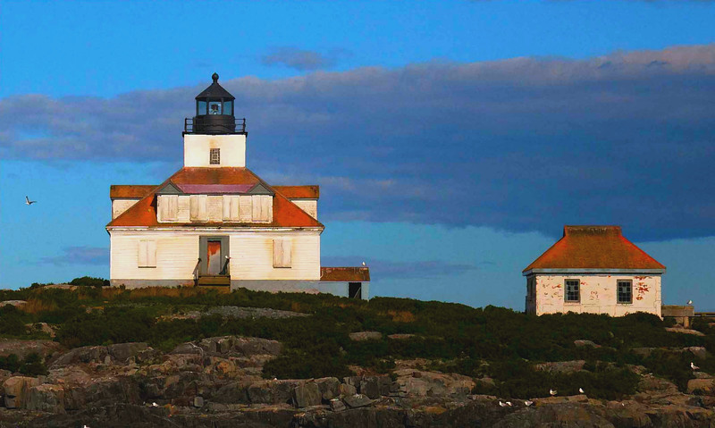 Egg Rock Light ,Frenchmans Bay , Bar Harbor Maine