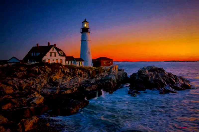 Portland Head Light, Maine sunrise
