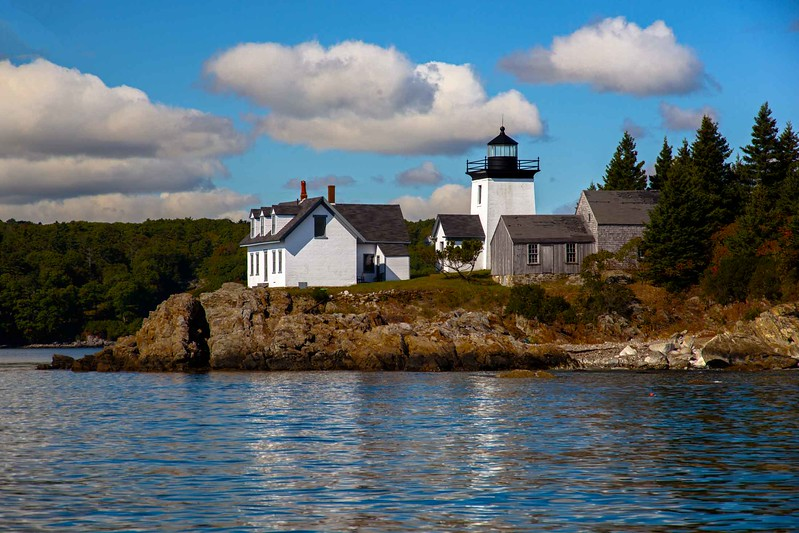 Maine light and keeper's house