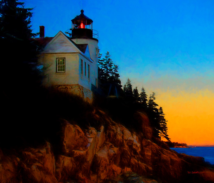 Bass Harbor Head light, Maine sunrise #3
