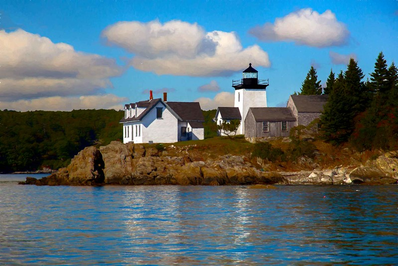 Maine light and keeper's house #2