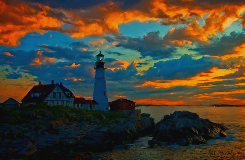 Portland Head Light,Maine sunset