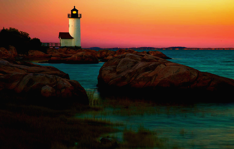 Annisquam Light,Mass sunrise