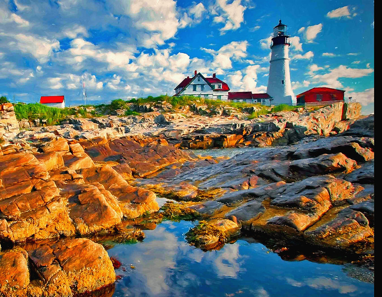 Portland Head Light,Maine rocks #2