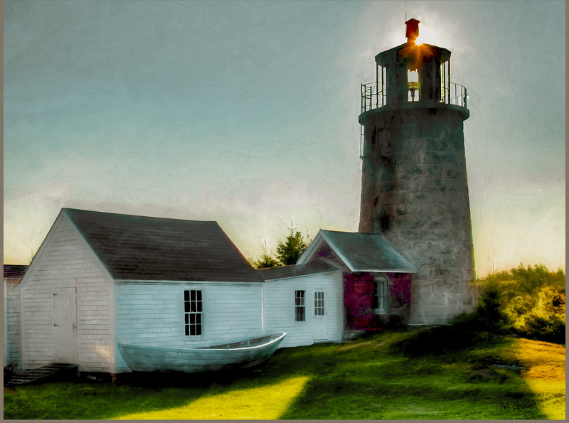 Monhegan Island, Maine lighthouse