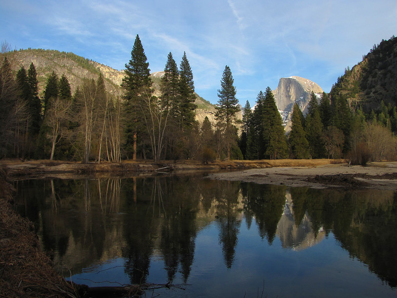 YG13-1 HALF DOME FROM MERCED RIVER