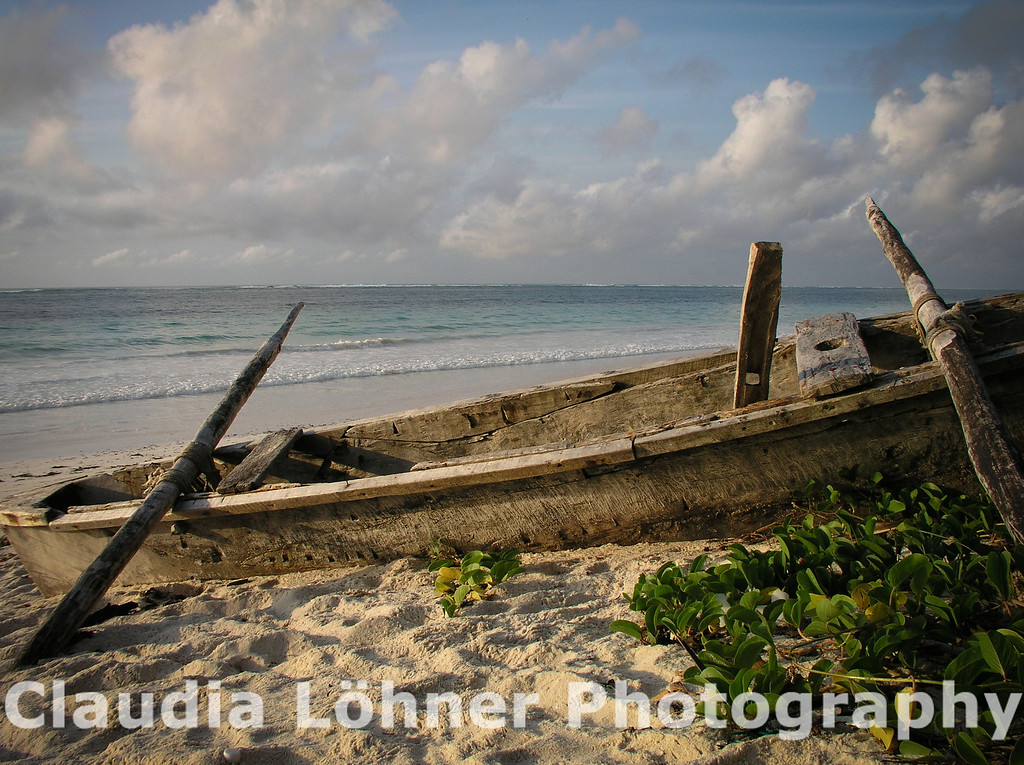 fisherman's boat; Diani Beach, Kenya