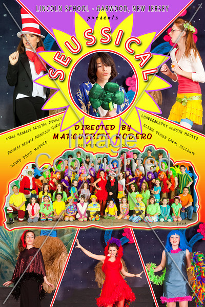 12x18 CAST POSTER Seussical 2009