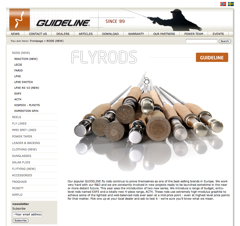 """Leif Stavmo designs some of the best fly rods available - when he's not designing for Loomis, he's working on the fantastic Guideline range. The 15ft LPXe 10/11 wt and 12wt LPXe RS are masterpieces - check out the site at <a href=""""http://www.guideline.no/en/"""">http://www.guideline.no/en/</a>"""