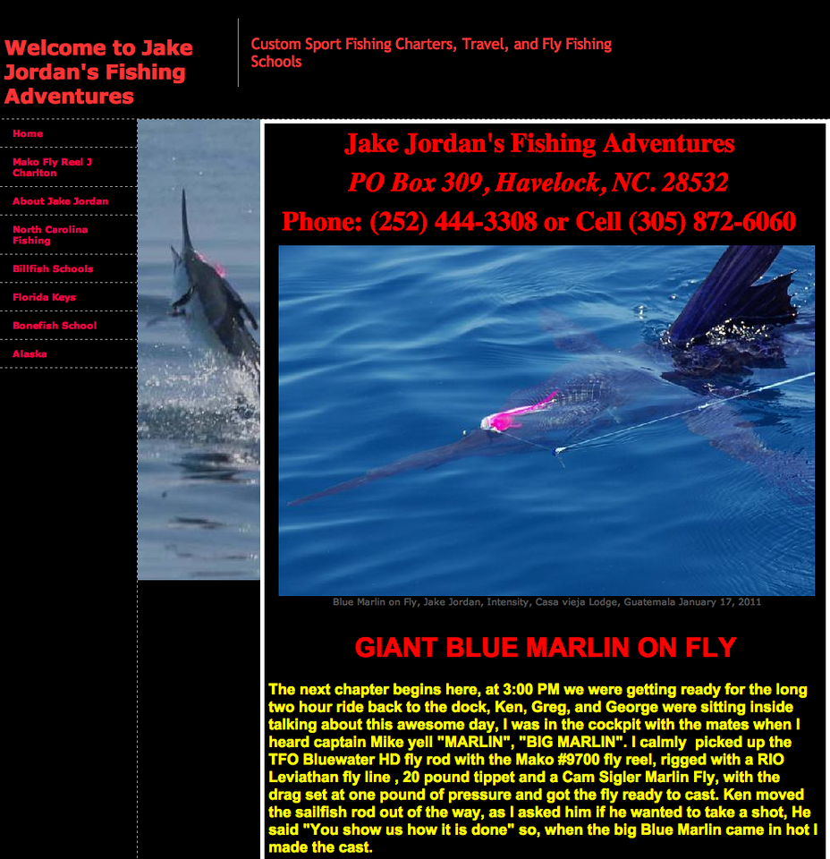 """Flyfishing for billfish like Pacific Sailfish and Marlin is at the extreme end of our sport. Jake Jordan is one of the most talented exponents of this high-octane discipline, having brought blue marlin to 400 pounds to the boat on fly! Check out his site at <a href=""""http://www.jakejordan.com/"""">http://www.jakejordan.com/</a>"""