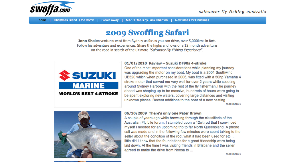 "Jono Shales is one of the few people who has caught a free-swimming marlin on fly & he's done it twice! On a ten weight!<br /> Jono is hard-core! Check out his site at <a href=""http://www.swoffa.com/"">http://www.swoffa.com/</a>"