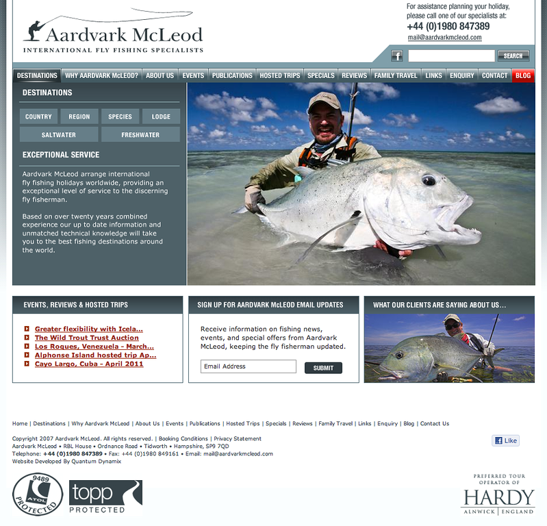 "Pete McLeod is one of the most passionate and well-travelled anglers I've met. He knows what he's talking about, and if he sends you somewhere, you can rest assured, you're going somewhere good - check out his excellent operation at <a href=""http://www.aardvarkmcleod.com/"">http://www.aardvarkmcleod.com/</a>"