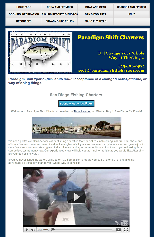 "Scott Leon fishes for anything that swims, but loves to target yellowfin tuna on fly - HARD-CORE!!! Check out his site at <a href=""https://paradigmshiftcharters.com/"">https://paradigmshiftcharters.com/</a>"