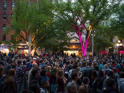 People Enjoying the Jazz Festival