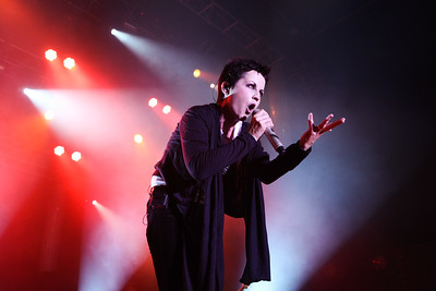The late Dolores O'Riordan with the Cranberries preforming  on stage for Live at The Marquee Cork.