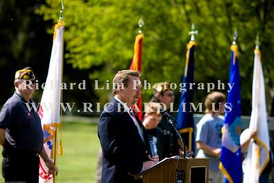 "Closing remarks by John ""Skip"" Bushart, CMSGT, USAFR, Ret (President, Fallen Heroes Memorial Foundation)."