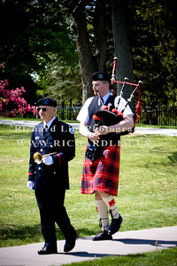 Mr. Forest Malott, bugler and Mr. Paul Adam, Piper.