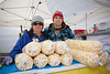 Marge Mills, owner of Good Times Kettle Corn with nephew and best popper, Nick Therrian.